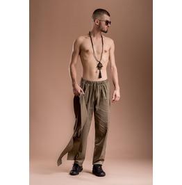 Green Poplin Pants / Oriental Style Harem Trouser