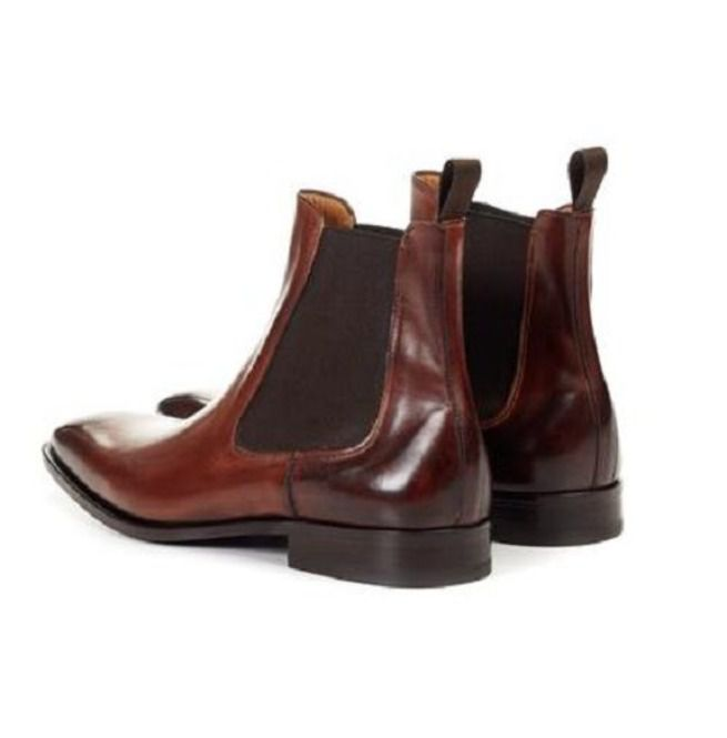 top-rated newest great discount for 100% high quality Men Brown Color Chelsea Boots, Ankle Boots, Mens Leather Boots