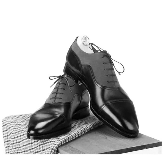 Handmade Men Two Tone Formal Shoes Men Designer Dress Rebelsmarket