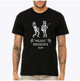Skeletons With Guitar And Saxophone Men's T Shirt