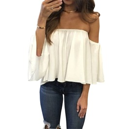 Trendy Women's Ruffled Off Shoulder Lace Top