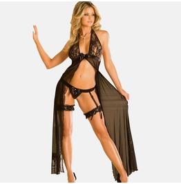 Sexy Long Lace Lingerie Underwear