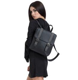 Womans Belted Backpack Bag Studded Jawbreaker