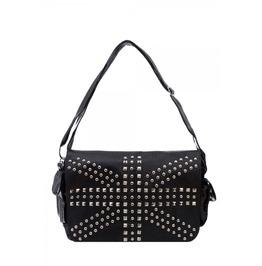 Womans Union Jack Studded Shoulder Bag Handbag Jawbreaker
