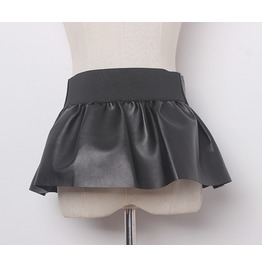 Faux Leather Belt For Skirt And Pants With Zipper Women's Accessories