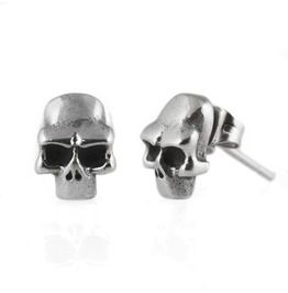 bd2af9a77 Stainless Steel Skull Earring