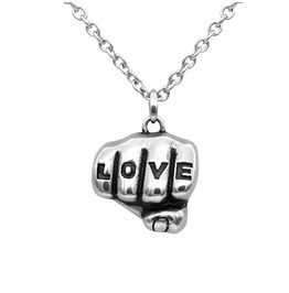 Love Tattooed Hand Necklace