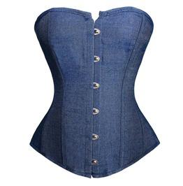 Urban Streetwear Jeans Overbust Women Corset