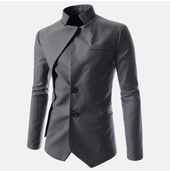 6d33cfc45de Asymmetric Stand Collar Jacket