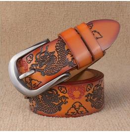 Vintage Dragon Leather Men Belt