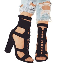 High Fashion Gladiator Strap High Heels