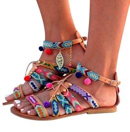 Boho Ethnic Mid High Flat Sandals
