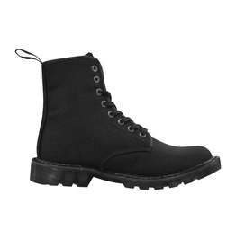 Men's Plain Black Lace Up Combat Boots By Elliz Clothing