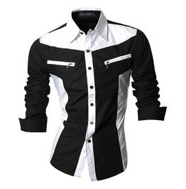 Shirts Men Punk Rock Casual Shirt New Arrival Long Sleeve Features Shirt