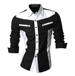 Shirts Men T018 Rock Casual Shirt New Arrival Long Sleeve Features Shirt