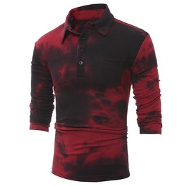 Urban Foggy Casual Long Sleeve Men Polo Shirt