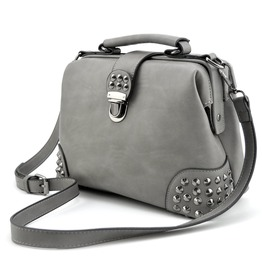 Gothic Rivet Vintage Style Cross Body Convertible Bucket Shoulder