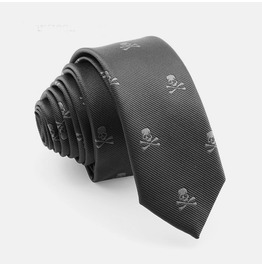 Mens Skull Tie Neck Wear Accessories