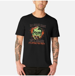 I'm Eating You First Short Sleeve Zombie T Shirt