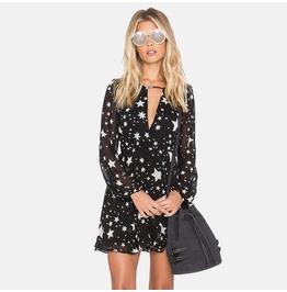 Star Print Skater Dress