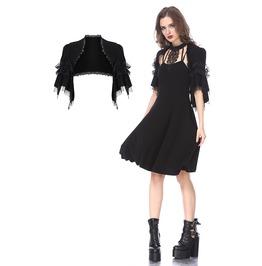 Bw044 Black Lolita Kawayi Bubble Sleeves Cape