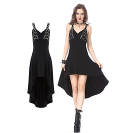 Dw164 Punk Dress With Silver Chain Design