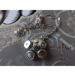 Cyberpunk Necklace Steampunk Jewelry Steamretro