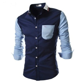 Retro Casual Long Sleeve Men Shirt