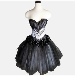 Black Gothic Corset Prom Dress