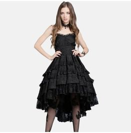 Dw039 gothic lolita noble swallow tail dovetail dress dresses
