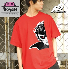 Persona5 The Animation Red Tshirt Protagonist
