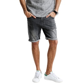 Trendy Men's Ripped Denim Shorts