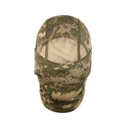 Cool Camouflague Army Green Beige Biker Face Mask Balaclava Thin Fabric Sml