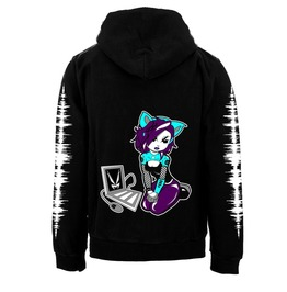 Vampirefreaks Cyber Kitty Zipper Hoodie