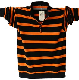 Casual Fashion Stripped Long Sleeved Men Polo Shirt