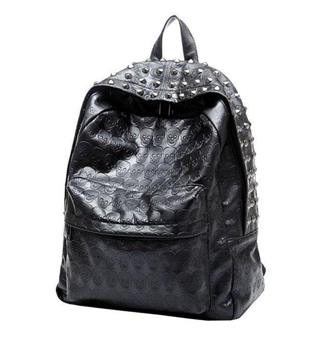 Alexander McQueen Mens Skull-Studded Small Backpack