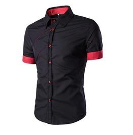 New Spring Casual Short Sleeves Men Shirt