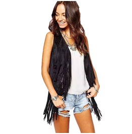 Spring Fashion Fringed Women Vest