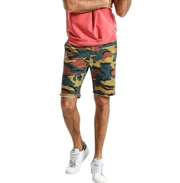 Trendy Men's Military Fatigue Shorts