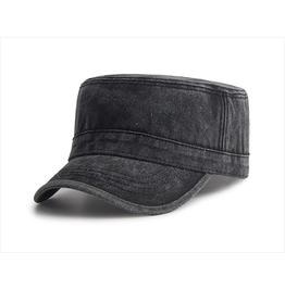 Denim Vintage Army Flat Top Snapback Cap Accessories