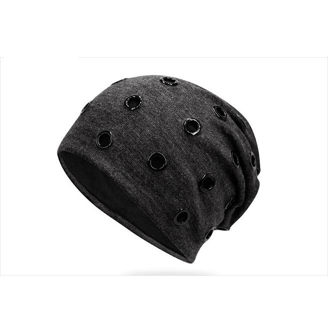 Punk Winter Warm Ring Embedded Beanie Hat  29eee7798e2