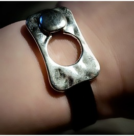 Submissive Dominatrix Leather Lock Bracelet Steampunk Bdsm Jewelry Dominant