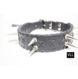Exclusive Exteme Punk Silver Spike Collar Rebel Fashionista Vll
