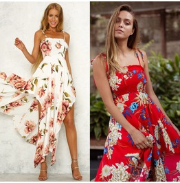 Boho Floral Long Maxi Dress Cocktail Party Evening Summer