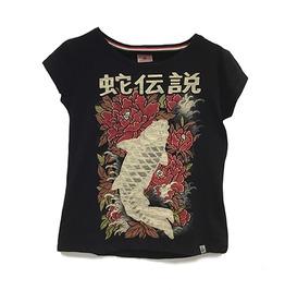 Koi Fish T Shirt Women Snake Legend