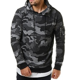 Camouflage Military Print Hooded Sweatshirts For Men