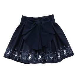 High Waist Mini Skater Skirt With Bow And Print Decorations Women's Bottom