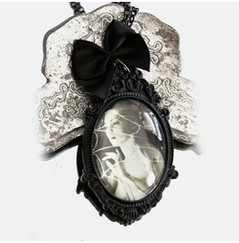 Frankenstein's Bride Gothic Necklace Gothic Pendant Halloween Jewelry