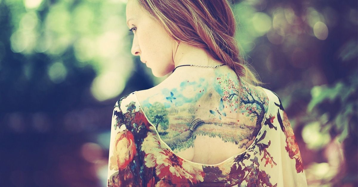 How to dress to show your back tattoos