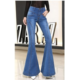 Vintage High Waist Flare Spring Women Jeans